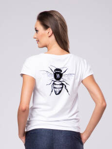 T-shirt damski z nadrukiem Bee Look